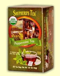 Shepherd's Organic Peppermint Bible Verse Tea
