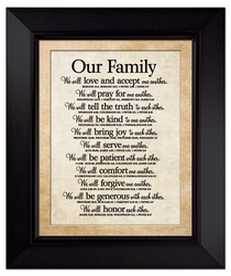 Our Family Large Wall Plaque - Christian Home Decor