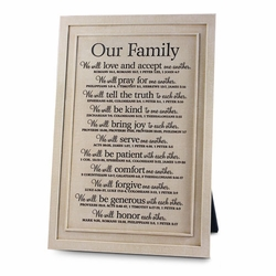 Our Family Resin Plaque - Christian Home Decor