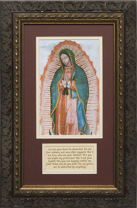 Our Lady Of Guadalupe With Prayer Framed Lordsartcom