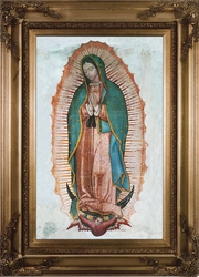 Our Lady of Guadalupe Canvas - 2 Gold Museum Framed Options
