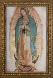 Our Lady of Guadalupe (Traditional), 6 Ornate Gold Framed Options