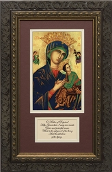Our Lady of Perpetual Help with Prayer Framed