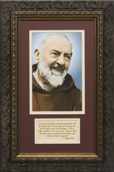 Padre Pio with Prayer Framed