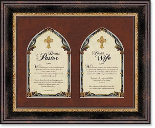 Pastor and Pastor's Wife Framed Wall Art