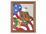 Patriotic Eagle Stained Glass Panel