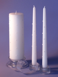 Pearl Bella Full Design 3x9 Unity Candle & Tapers