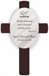 Personalized Baptism Cross Mark 16:16