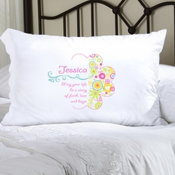 Personalized Cheerful Blossoms Pillow Case