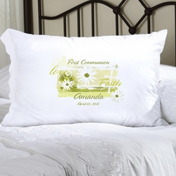 Personalized Delicate Daisy Pillow Case