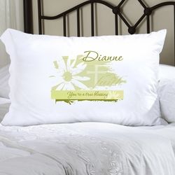 Personalized Divine Daisy Pillow Case