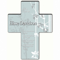 Personalized Faith and Flower Cross Prayer 6 - Children's Bedtime Prayer