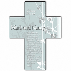Personalized Faith and Flower Cross Prayer 7 - Marriage Prayer
