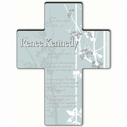 Personalized Faith and Flower Cross Prayer 8 - Confirmation Prayer