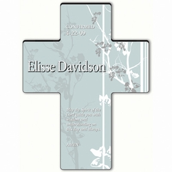 Personalized Faith and Flower Cross Prayer 9 - Holy Spirit Confirmation