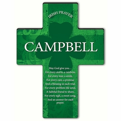 Personalized Irish Blessing Shamrock Cross Blessing 6 - An Irish Prayer