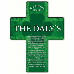 Personalized Irish Blessing Shamrock Cross Blessing 8 - Bless This House