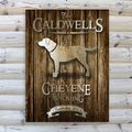 Personalized Labrador Rustic Wood Cabin Canvas