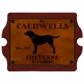 Personalized Labrador Vintage Cabin Sign