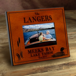 Personalized Loon Picture Frame