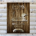 Personalized Loon Rustic Wood Cabin Canvas