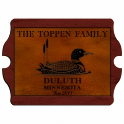 Personalized Loon Vintage Cabin Sign