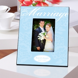 Personalized Marriage Picture Frame- Blue