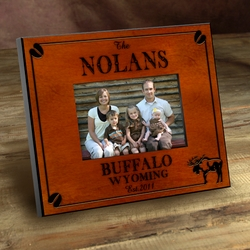 Personalized Moose Picture Frame