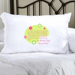 Personalized Morning Prayer Pillow Case