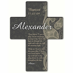 Personalized Paisley Praise Cross Prayer 4 - Morning Prayer