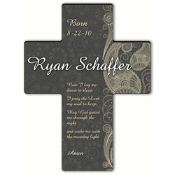 Personalized Paisley Praise Cross Prayer 6 - Children's Bedtime Prayer