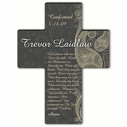 Personalized Paisley Praise Cross Prayer 8 - Confirmation Prayer