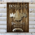 Personalized Spruce Rustic Wood Cabin Canvas