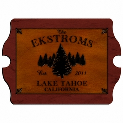 Personalized Spruce Vintage Cabin Sign