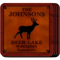 Personalized Stag Coaster Set