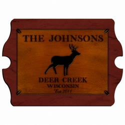 Personalized Stag Vintage Cabin Sign