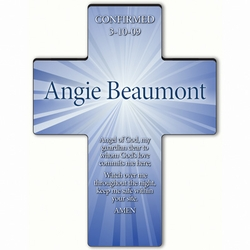 Personalized Starburst Cross Prayer 1 - Guardian Angel