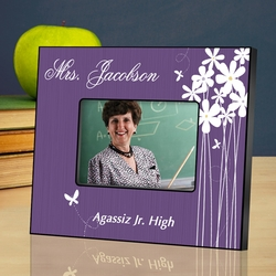 Personalized Teacher Picture Frame - Bloomin' Butterfly