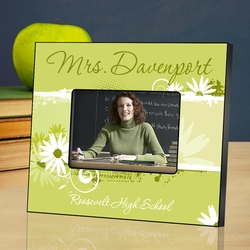 Personalized Teacher Picture Frame - Delicate Daisy