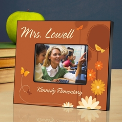 Personalized Teacher Picture Frame - Springtime Celebration