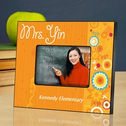 Personalized Teacher Picture Frame - Sunshine and Flowers