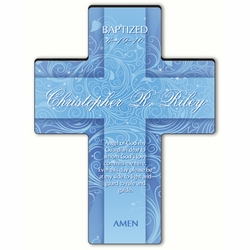 Personalized Twinkling Star Cross Prayer 3 - Prayer of Protection