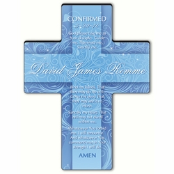 Personalized Twinkling Star Cross Prayer 8 - Confirmation Prayer