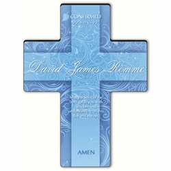 Personalized Twinkling Star Cross Prayer 9 - Holy Spirit Confirmation