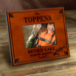 Personalized Walleye Picture Frame