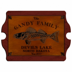 Personalized Walleye Vintage Cabin Sign