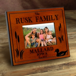 Personalized Wood Duck Picture Frame