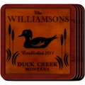 Personazlied Wood Duck Coaster Set