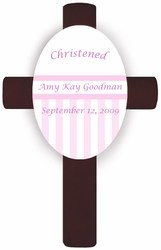 Pink Children's Baptism/Christening Cross