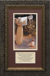 Polish Madonna with Prayer - Framed Christian Art